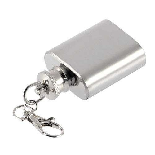 NaisiCore 1 oz Mini portátil de Acero Inoxidable Frasco de la Cadera de la garrafa de Alcohol con Llave para el hogar
