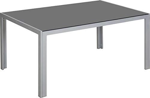 TrendLine Glastisch New York 150 x 95 cm Terrassentisch Aluminium Gartentisch