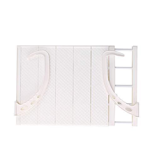 Express Heizkörpertrockner Faltender Hängende Schuhablage Wäscheständer Tragbarer Kleiderbügel Balkon Wäschetrockner im Freien Belüfter (Weiß)