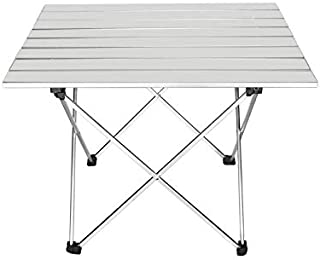 Conbo Portable Camping Table Small Ultralight Folding Table with Aluminum Table Top and Carry Bag Easy to Carry Prefect fo...