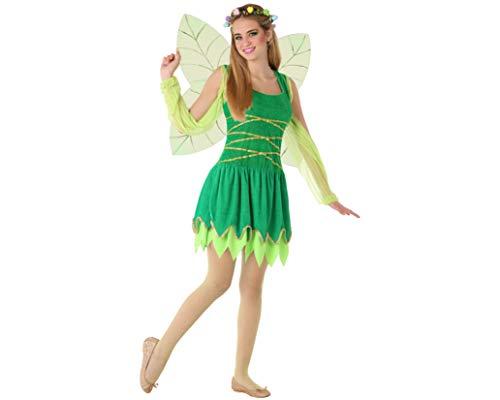 Atosa-61614 Atosa-61614 Kostüm Mädchen Märchenfiguren, Damen, 61614, Grün, Jugendliche