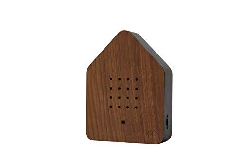 Zwitcherbox Holz zwitscherbox, Walnuss/schwarz, 11x 12x 3cm
