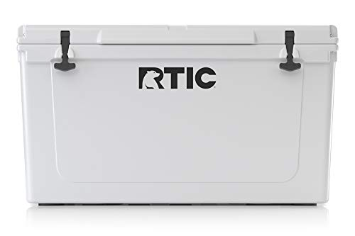 RTIC Ice Chest Hard Cooler, Heavy Duty Rubber Latches, 3 Inch Insulated Walls, 110, White