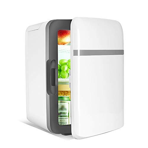 ALCST&CX Mini Nevera de Coche Eléctrica Termoeléctrica 12/220-240V, 15 litros Mini Refrigerador de Coche portátil Silencioso,Mini Nevera para Bebidas, Hogar, Camping, Viajes, Automóvil