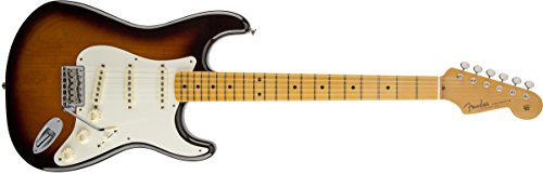 Fender 0117702801Eric Johnson Stratocaster Ahorn Griffbrett E-Gitarre–Weiß blonde-p Volle Größe sunburst