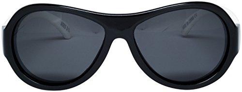 Babiators - Gafas de sol Aviador BAB-059 para bebé, Out of Sight Black/ White