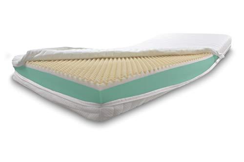 Dibapur Visco Plus H3: Colchón ortopédico Visco + Colchón de espuma fría (alto peso volumétrico) selección x aprox. 16 cm núcleo con funda estándar acolchada aprox. 16,2 cm. Fabricado en Alemania.