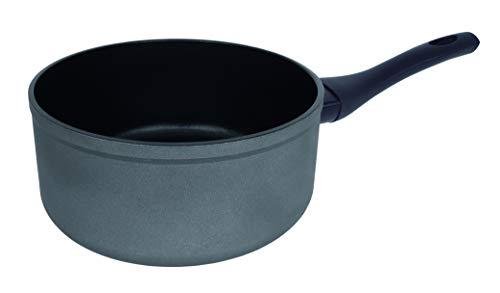 Arcos Serie Kaula   Cazo Antiadherente 20 cm   Aluminio Forjado   Recubrimiento QuanTanium   Apta cualquier cocina   Mango Efecto Frio   Sistema ahorro energético   Apta lavavajillas   Color Negro