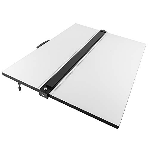 Pacific Arc Drafting Board, Portable Drafting Table with Parallel Bar, 20 x 26 Inches