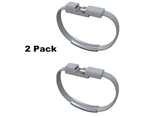 2 Pack USB Kabel Mini Korte Platte Armband Sync Data Opladen Micro USB 2.0 Interface Kabel 22 cm Mobiele Telefoon Smartphone Opladen