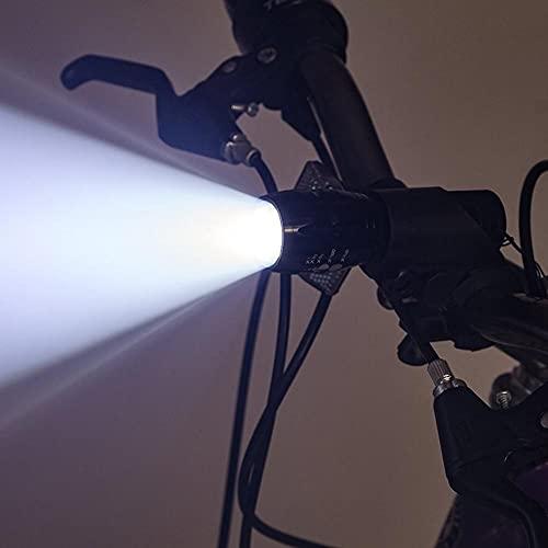 Conjunto De Luz De Bicicleta Recargable USB, Faros Frontales Súper Brillante Y Dos Luces De Bicicletas Led Traseras para Montar En Bicicleta De Noche, Fácil De Instalar para Niños, Carretera,