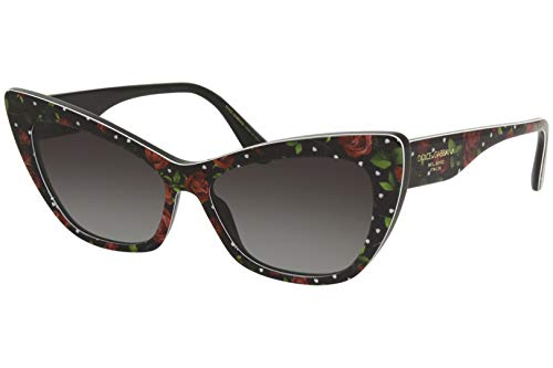 Dolce & Gabbana Gafas de Sol PRINTED DG 4370 ROSES AND HEARTS/GREY SHADED 56/15/140 mujer