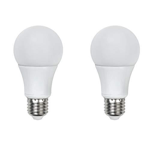 Asencia AN-03409 60 Watt Equivalent, Dimmable, A19 Standard LED Light Bulb, 2-Pack, Soft White (2700K)