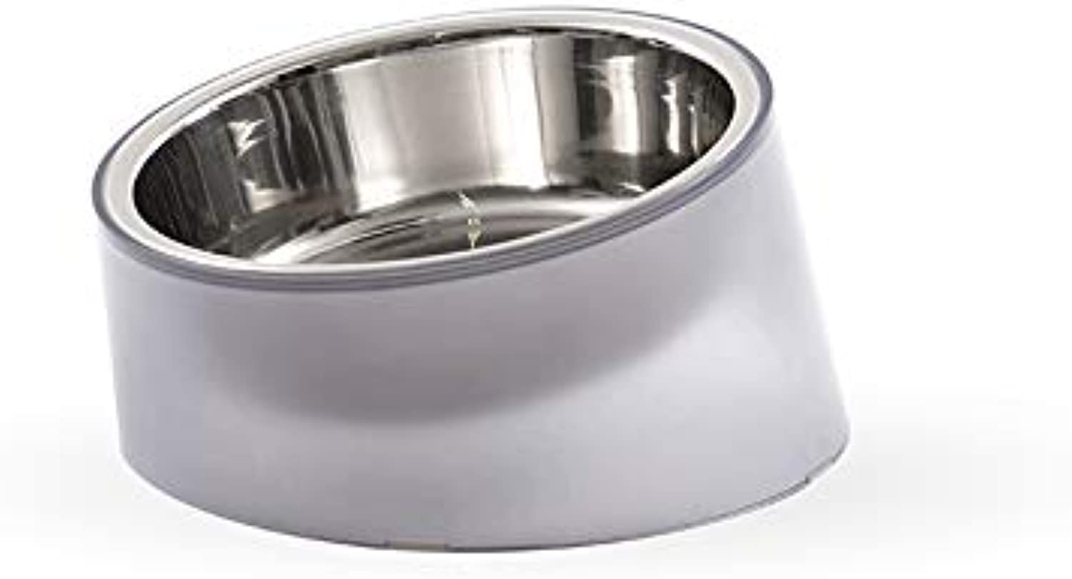 Raised Bowls Pet Feeding Bowl Food and Water BowlSemiTransparent Cat Food Bowl Dog Food Bowl, GoodLooking Appearance, Not Easy to Wear, NonSlip Resistant, Easy to Clean