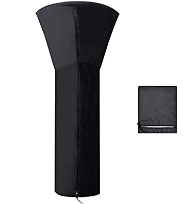 """Wigbow Patio Heater Cover Waterproof with Zipper, 210D Standup Round Oxford Covers for Outdoor Heaters, 93"""" H x 36"""" D x 21"""" B"""