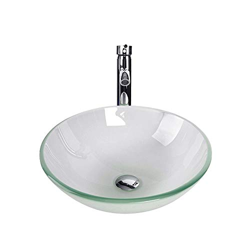Our #3 Pick is the Tempered Glass Vessel Bathroom Sink
