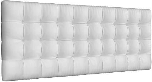 LA WEB DEL COLCHON - Cabecero tapizado Manhattan para Cama de 180 (190 x 70 cms) Blanco | Cama Juvenil | Cama Matrimonio | Cabezal Cama |
