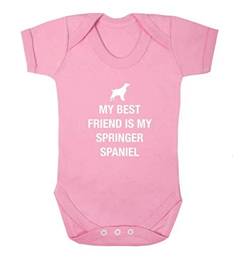 Flox Creative Baby Vest Best Friend Springer Spaniel - Rose - XS