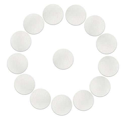 14 x Badezimmer Anti Rutsch Sticker | Sossai BADGIO (Durchmesser 10cm, 14 Stück) | Transparent | Selbstklebend | Badezimmerboden Badewanne Dusche