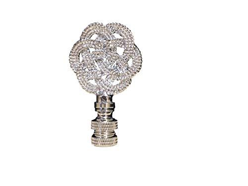 Royal Designs, Inc. Decorative Celtic Knot Lamp Finial Chrome (Single)
