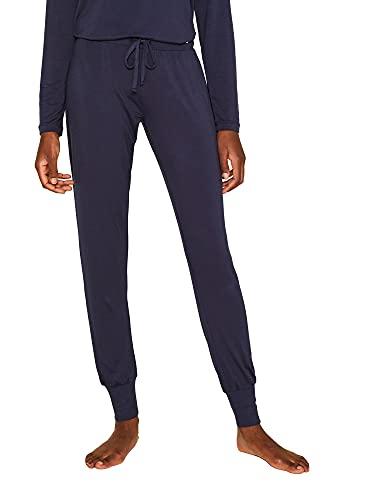 Esprit Jayla Long Pant Pantalones de Pijama, Azul (Navy 400), 46 (Talla del Fabricante: 44) para Mujer