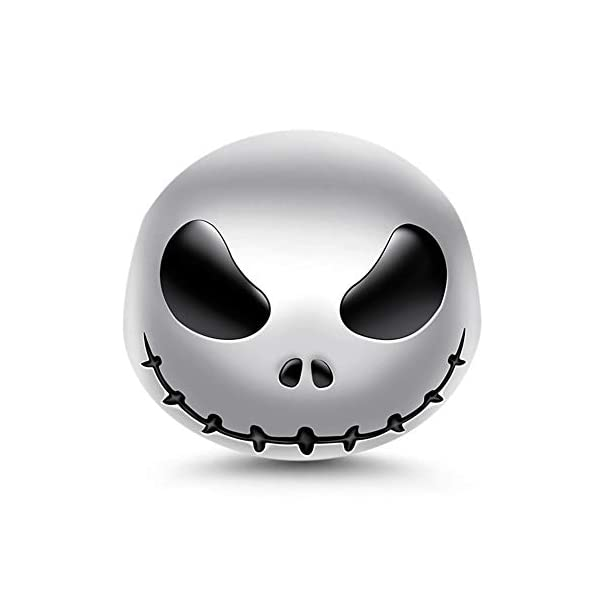 "GNOCE""Jack Skull 925 Sterling Silver Skull Beads Charms for Bracelets Necklace Birthday Halloween Jewelry for Women Gift"