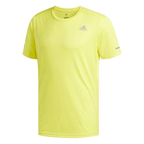 adidas Run tee M Camiseta, Hombre, Amarillo (Shock f18), XL