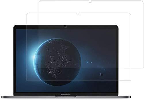 """MasiBloom® Lot de 2 films protecteurs d'écran transparents pour MacBook Air 13"""" avec Touch ID et écran Retina Modèle : A2337 A2179 A1932 (2020 2019 2018) Dureté 4H Anti-rayures"""