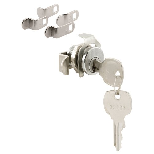 Prime-Line Products Prime-Line S 4573 Replace Damaged or Missing Mailbox Locks, 90 Degree Rotation, Opens Counter-Clockwise, National Keyway, Nickel Finish, Nickle