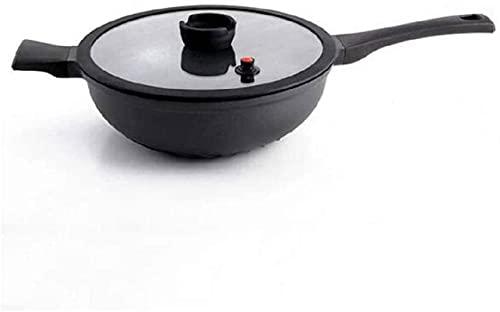 TINGFENG Wok Pan Hogar Sartén antiadherente sin revestimiento saludable de gran capacidad tortilla Pan de desayuno Pan Utensilios de cocina