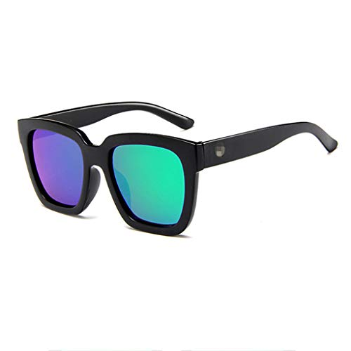RISTHY Gafas de Sol Unisex Polarizadas para Hombres y Mujeres,Lente Espejo de Color, Montura Grande Gafas Moda Retro