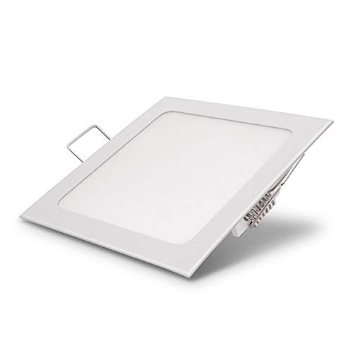 Europalamp - Spot Encastrable LED Carre Downlight Panel Extra-Plat 18W Blanc Froid 6000K