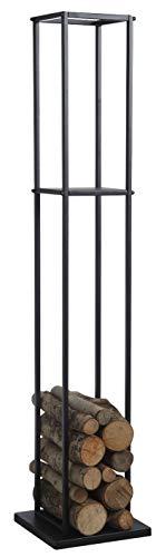 Range-bûches en métal noir