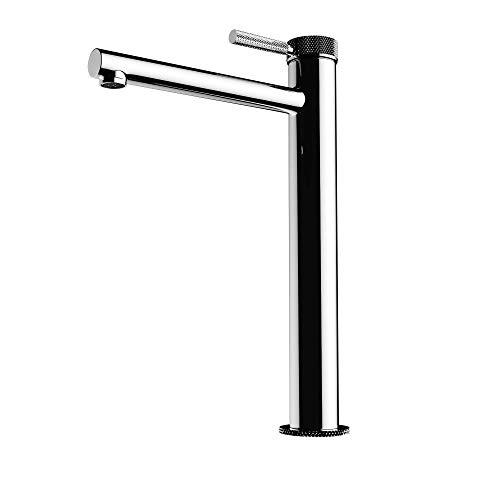 Mai & Mai Grifo monomando de lavabo WAO-7601-H mezclador monomando en plateado para lavabo de 30,5 cm