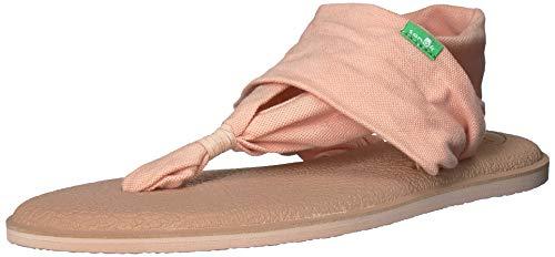 Sanuk Damen Yoga Sling 2 Solid Vintage Flip-Flop Sandale, Spanische Villa, metallisch roségold, 38 EU