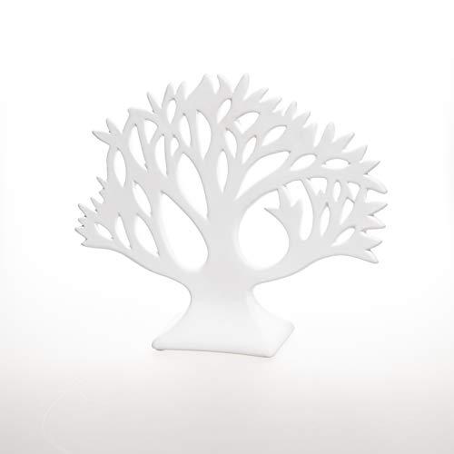 Valentino Wohnideen Baum Vita 18cm, weiß matt, Keramik