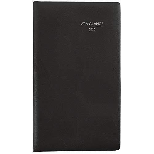 AT-A-GLANCE 2020 Weekly Pocket Planner, DayMinder, 3-1/2u0022 x 6u0022, Black (SK4800)