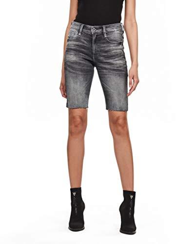 G-STAR RAW Damen Shorts 4311 Noxer High Slim, Vintage Basalt A634-B168, 30W