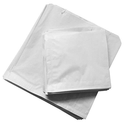 "STRONGHOLD - Bolsas de sulfito para uso alimentario, color blanco 6"" x 6"""