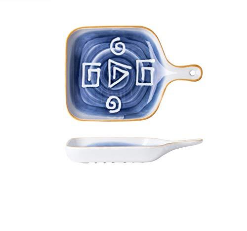 Cubiertos, utensilios para hornear, plato para cubiertos, plato para el hogar, cinta de desayuno de cerámica de dibujos animados, Hokage-9.3 pulgadas