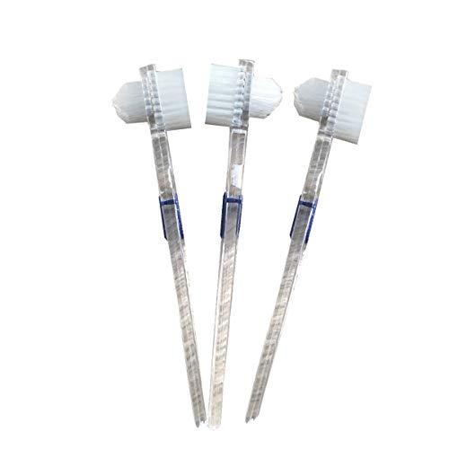 EXCEART 3 Peças Escova de Dentadura Escova de Limpeza de Dentes Escova de Aparelho Dental Escova de Limpeza Escova de Dentes Dupla Face