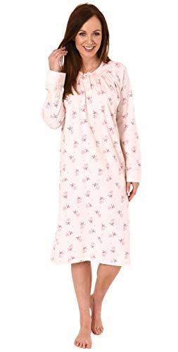 NORMANN-Wäschefabrik Elegantes Damen Nachthemd mit 105 cm Länge und Kopfleiste am Hals - 291 210 90 190, Farbe:rosa, Größe2:48/50