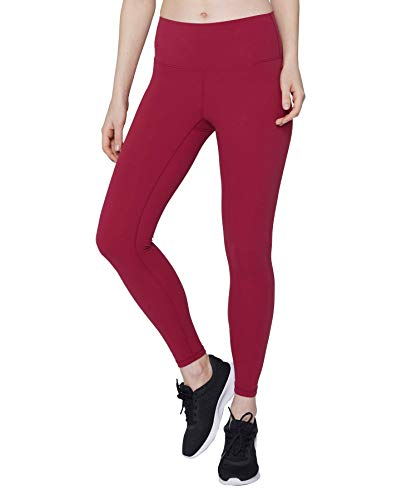 light & leaf Fabletics Leggings for Women High Waisted Workout Leggings Seamless Running Yoga Pants Red