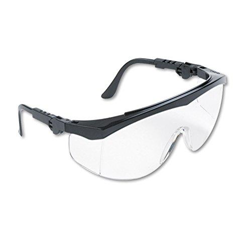 MCR TK110 Crews Tomahawk Safety Glasses Black Frame Clear Lens, 1 Pair