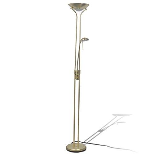 vidaXL LED Stehlampe Dimmbar 23W 180cm Deckenfluter Stehleuchte Standlampe