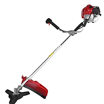 52cc Bush Cutter Gasoline Powered Grass String Trimmers Backpack Lawn Mower for Garden Cleaning  Red