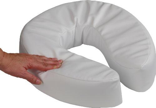 NRS Healthcare Toilettensitzerhöhung, weich, gepolstert, 50mm