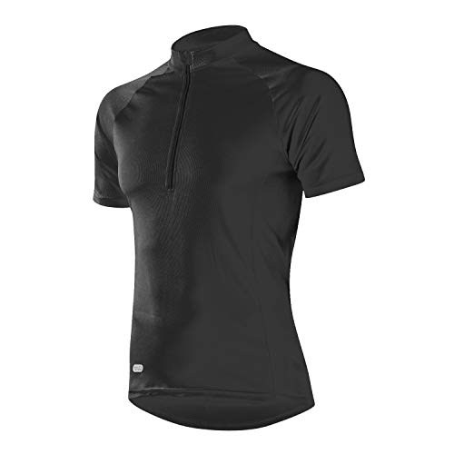 INBIKE Cycling Jerseys for Men Mountain Bike Jersey Mens Cycle Tops Shirt Team Short Sleeve Bicycle Sports Clothing (Black L)