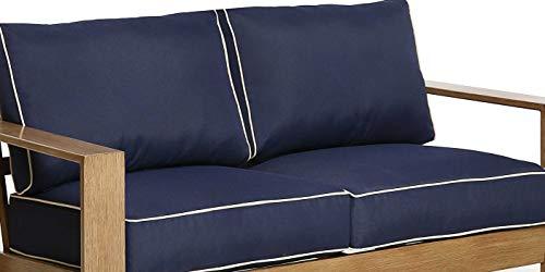Creative Living Blue-2Cushion Patio Loveseat Set, Deep Seat Outdoor Cushion, 4PC, Blue