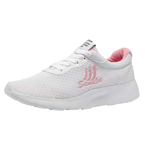 Fashion Running Shoes for Women,Fashion Women Casual Sneakers Mesh Breathable Shoes Student Running Shoes,Women's Tennis & Racquet Sport Shoes,White,US:5.5